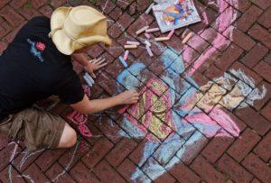 Around Town — Chalk Art