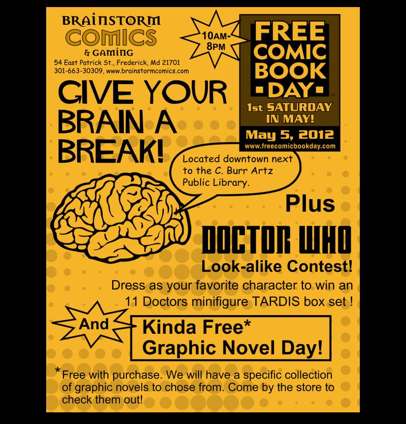 Free Comic Book Day Flyer: Brainstorm Comics