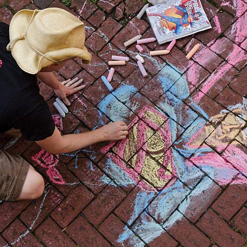 Superman Chalk Drawing