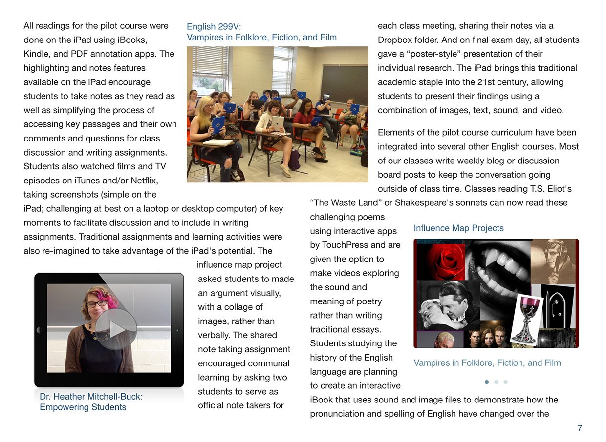 The iPad @ Hood College: page 7